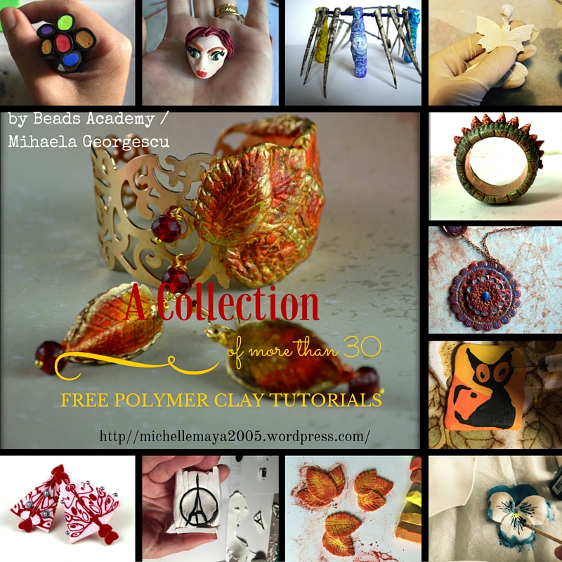 Free polymer clay tutorials by Mihaela Georgescu / Beads Academy