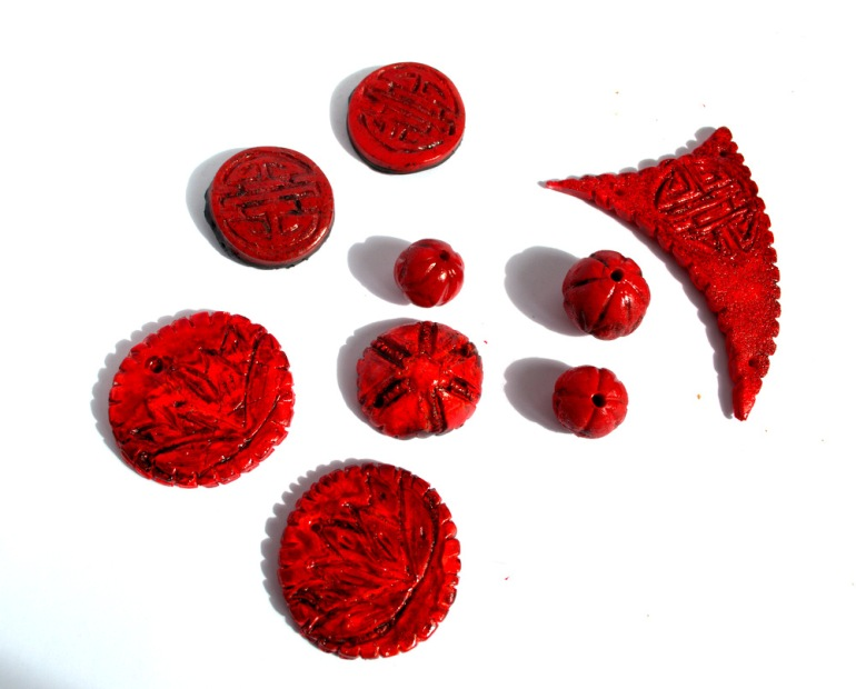 Faux Cinnabar Art Beads