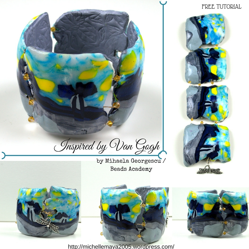 Free polymer clay tutorial by Mihaela Georgescu / Beads Academy