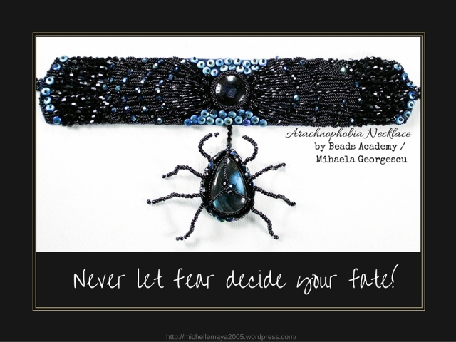 Arachnophobia necklace by Beads Academy / Mihaela Georgescu