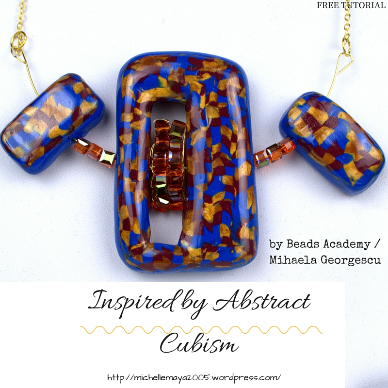 Free polymer clay tutorial by Beads Academy / Mihaela Georgescu