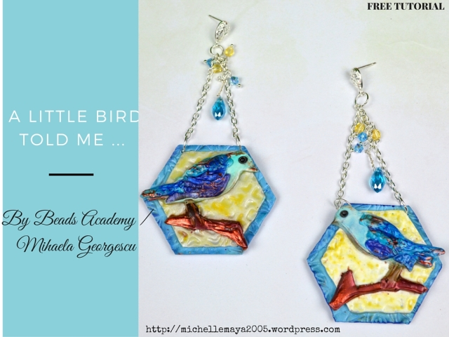 Free polymer clay tutorial by Beads Academy / Mihaela Georgescu. ArtBeadScene May Challenge