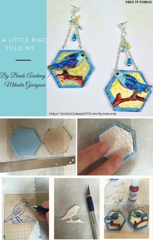 Free polymer clay tutorial by Beads Academy/ Mihaela Georgescu. ArtBeadScene May Challenge