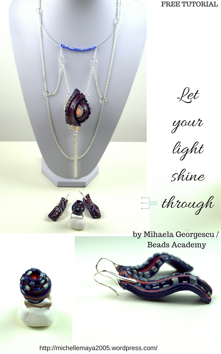 LED Jewelry made using polymer clay - Visit https://michellemaya2005.wordpress.com/ for more polymer clay tutorials