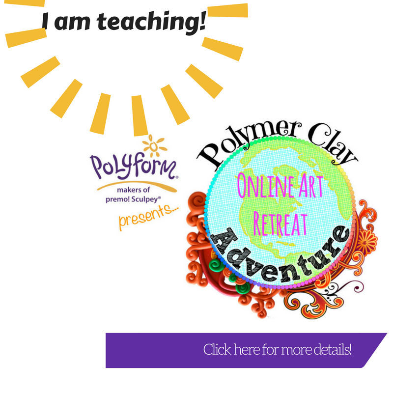 I'm teaching in the Polymer Clay Adventure 2017!