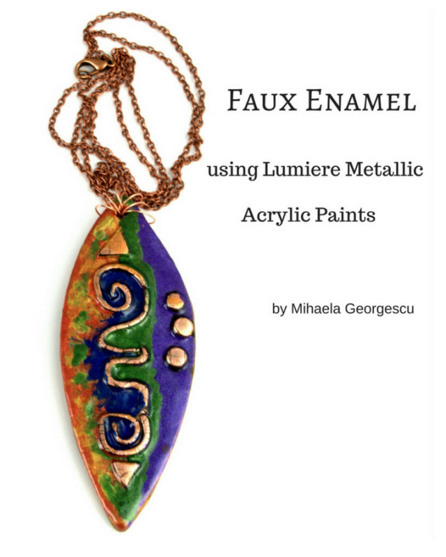 Faux Enamel using Lumiere Metallic Paints)