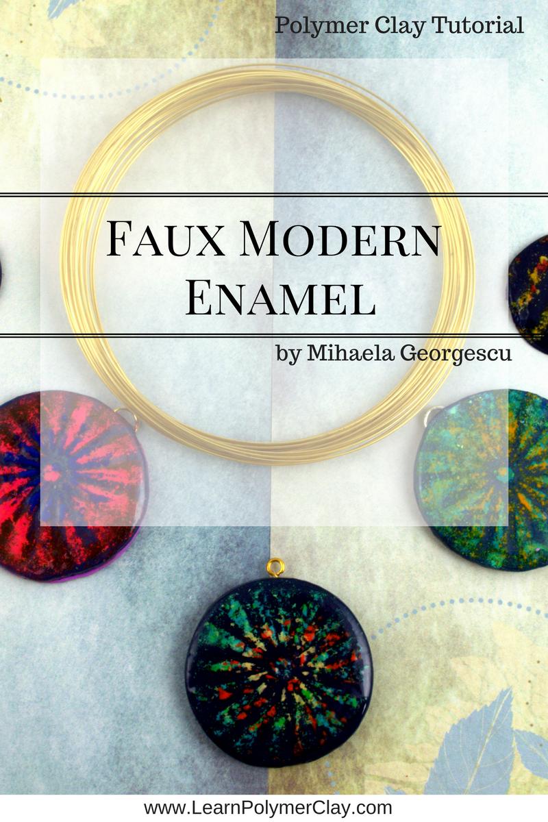 Faux Modern Enamel Polymer Clay Tutorial