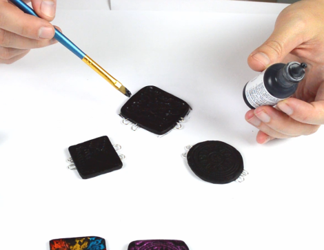 Faux Fused Glass polymer clay tutorial