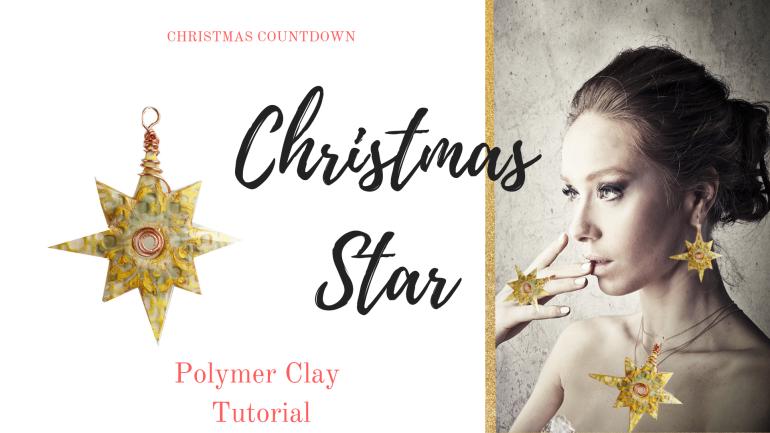 Christmas Star polymer clay tutorial
