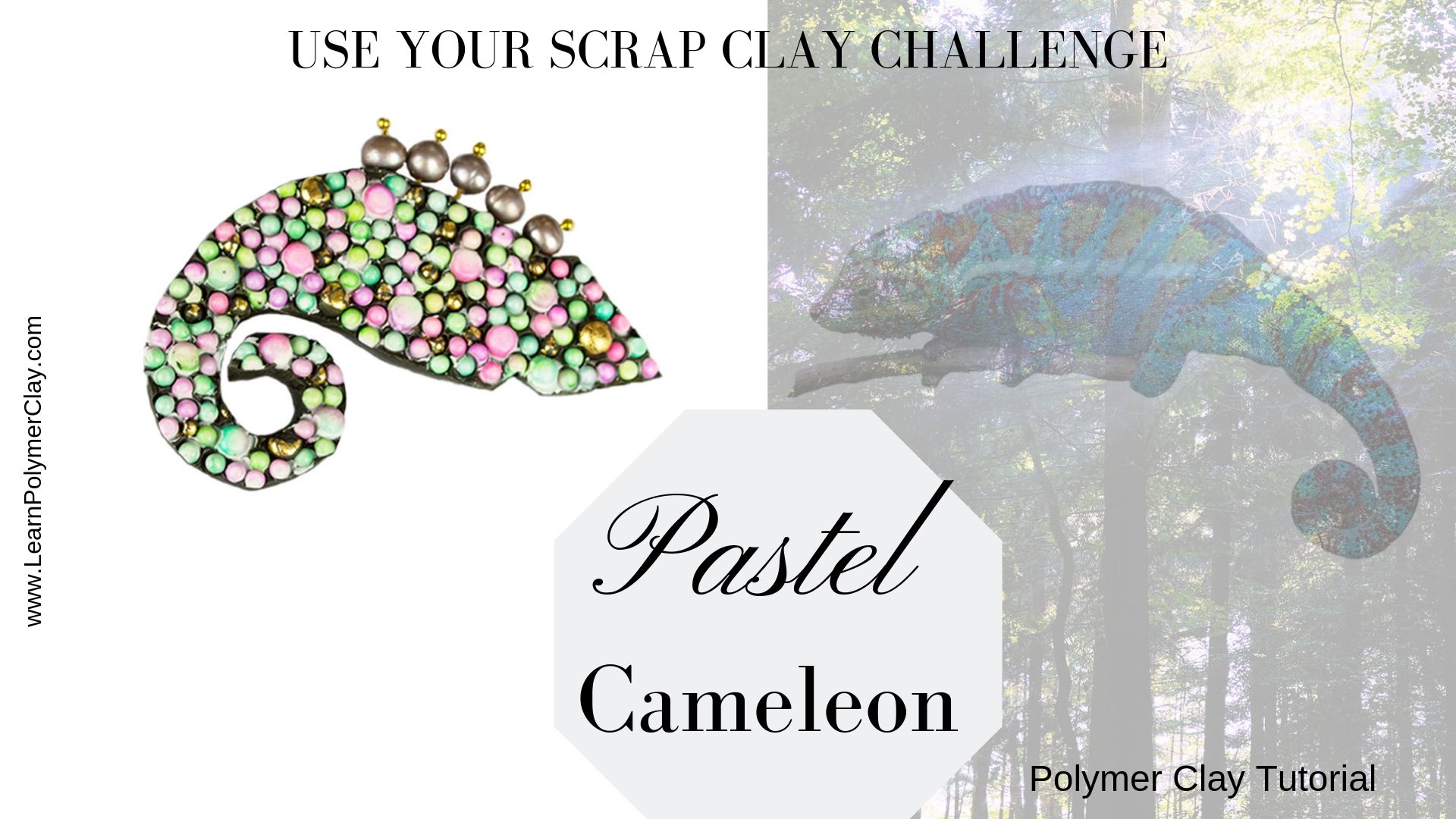 Chameleon video polymer clay tutorial