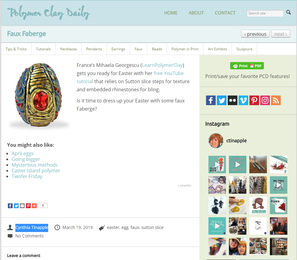 Polymer Clay Daily - Easter polymer Clay inspiration Faux Fabergé Egg