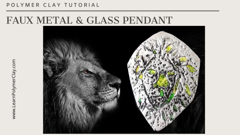 Faux metal and glass polymer clay tutorial